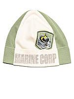 Детская шапочка (Бежевый с зеленым)