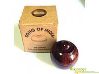 Сухие Духи Дикая Роза 6 грм в деревянной упаковке, Песня Индии. Парфюмерные масла высокого качества