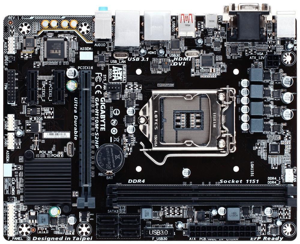 Gigabyte GA-H110M-S2HP Socket 1151