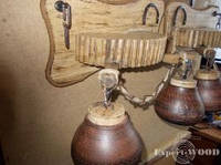 Люстра светильник бра колесо от телеги старинная