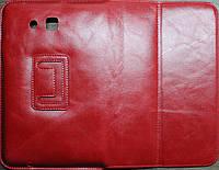 "WRX Premium Leather Case for Samsung T110/111 Galaxy Tab 7"" Lite Red Лак"