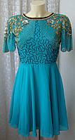 Платье вечернее яркое бисер Urgoslounge р.44 6626