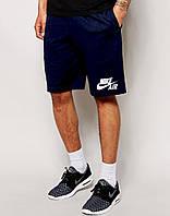 """Мужские шорты """"Nike"""" т.синие с принтом Найк"""
