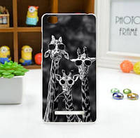 Силиконовый чехол для Xiaomi M4c/M4i с рисунком Жирафы