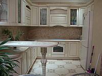 Кухни из натурального дерева Милан