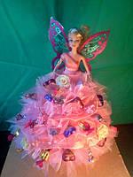 Куклы с платьем из конфет.