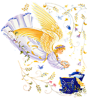 Ангелочки 51 Вафельная картинка