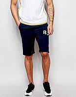 Мужские шорты Reebok т.синие с принтом Рибок (Размер L)