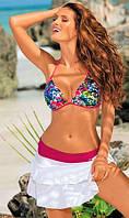 Стильная пляжная юбка М334, большой выбор цветов