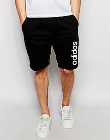 Мужские шорты Adidas черные с принтом