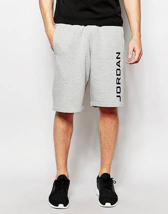 """Чоловічі шорти """"Jordan"""" сірі з чорним принтом, фото 2"""