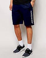 Мужские шорты Jordan т.синие с большим принтом