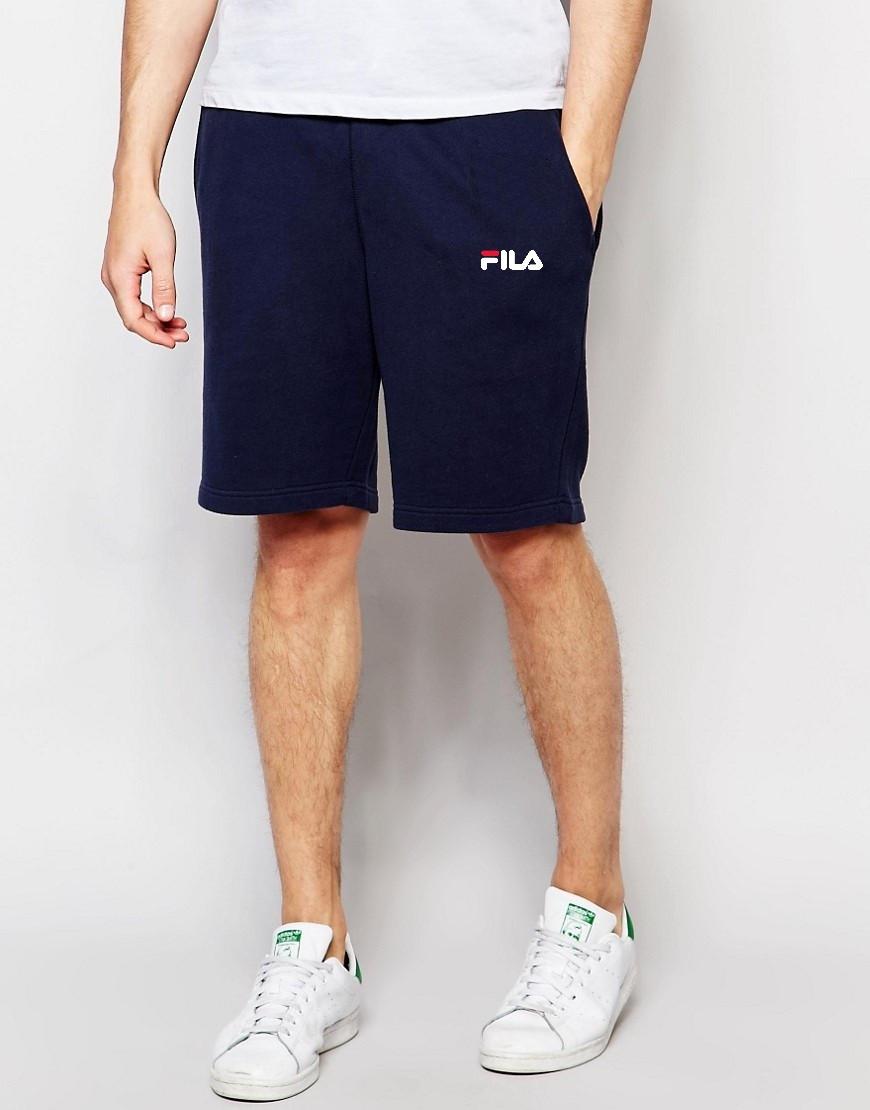 Чоловічі шорти FILA т. сині з принтом