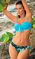 Яркий купальник с лифом-бандо М340
