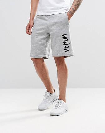 Чоловічі шорти Venum сірий (великий принт), фото 2