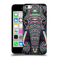 Пластиковый чехол для iPhone 5C узор Ацтекский слон