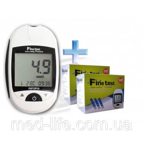 Акция Обмена.Fine Test Файн Тест.2уп.тест-полосок+глюкометр в подарок*