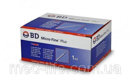 BD Microfine 1ml 100шт в упаковке. U 100 8мм