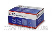 BD Microfine 1ml 100шт в упаковке. U 100