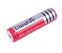 Литиевый аккумулятор UltraFire BRC 18650 4200mAh 3.7V Li-ion (1шт)