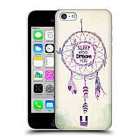 Пластиковый чехол для iPhone 5CS узор Ловец снов розовый