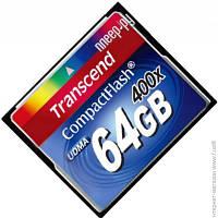 Карта Памяти Transcend CompactFlash 64GB 400x (TS64GCF400)