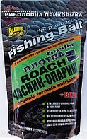 Прикормка FISH FOOD Плотва чеснок+опарыш. 900 гр.