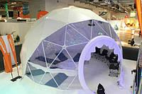 Сферические шатры, круглые шатры - геодезические купола
