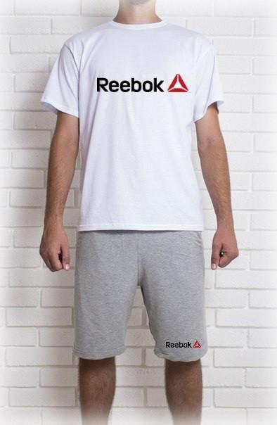 Мужской летний комплект Reebok (шорты + футболка)
