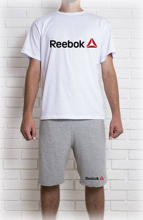 Мужской летний комплект Reebok (шорты + футболка), фото 2