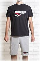 Мужской летний комплект Рибок (шорты + футболка)