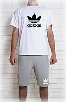 Мужской летний комплект Адидас(шорты + футболка)