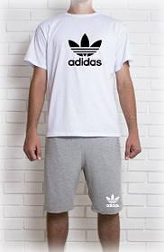 Мужской летний комплект Адидас (шорты + футболка)