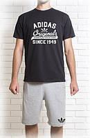 Мужской летний комплект Adidas Original (шорты + футболка)