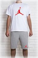 Мужской летний комплект Jordan (шорты + футболка)