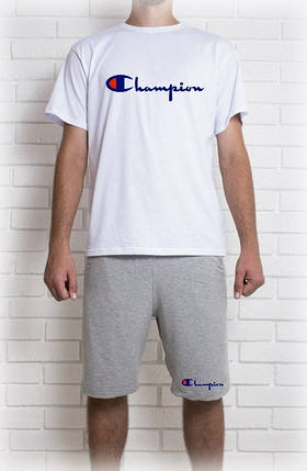 Мужской летний комплект Champion (шорты + футболка), фото 2