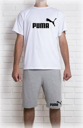 Мужской летний комплект Puma (шорты + футболка), фото 2