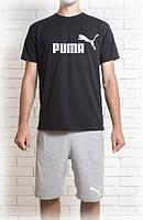 Мужской летний комплект Пума (шорты + футболка)
