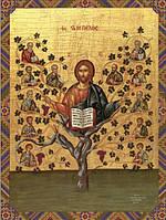 Схема для вышивания бисером икона Господь Иисус Христос - Истинная Лоза КМИ 3027
