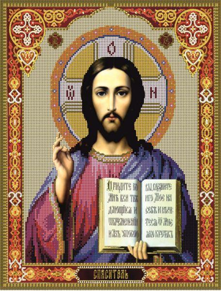 Схема для вишивання бісером ікона Господь Ісус Христос КМІ 3024