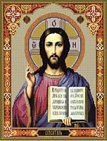 Схема для вышивания бисером икона Господь Иисус Христос КМИ 3024