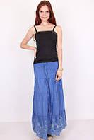 Летняя юбка с ажурным рисунком по низу юбки 021
