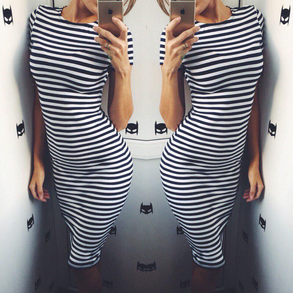 Платья футболки ниже колен
