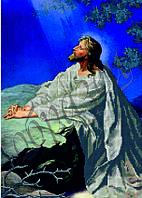Схема для вышивания бисером икона Иисус Христос молится в Гефсиманском саду КМИ 3015