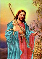 Схема для вышивания бисером икона Иисус добрый пастырь КМИ 3011
