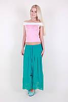 Однотонная летняя юбка 051