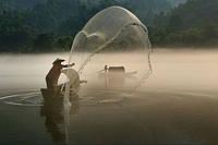 Кастинговая рыболовная сеть парашют, 5м диаметр, нить, для промышленного лова