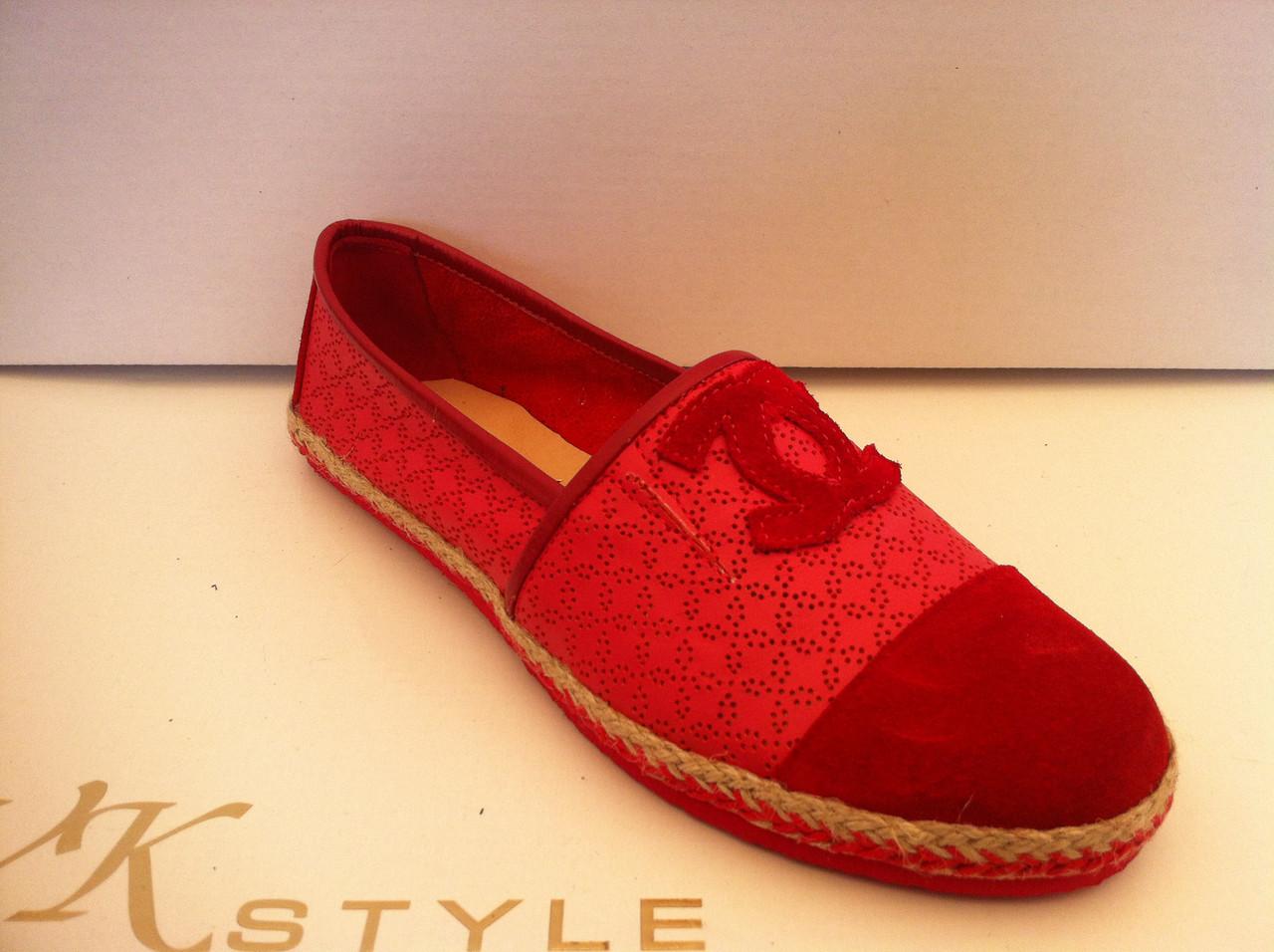 4ad256bb7852 Красные женские эспадрильи Chanel кожа замша  продажа, цена в ...