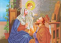 Схема для вышивания бисером Мария, Иосиф и младенец Иисус КМИ 3033