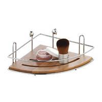 Полка для ванной навесная Бонья бамбук (угловая)